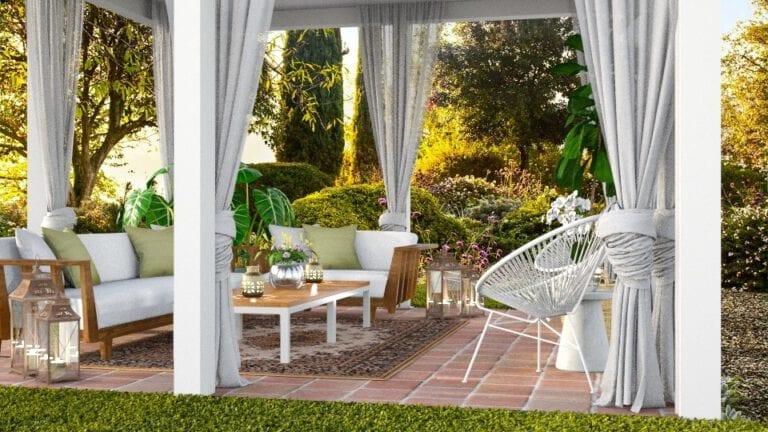 Render interioIInteriorismo y decoración jardines