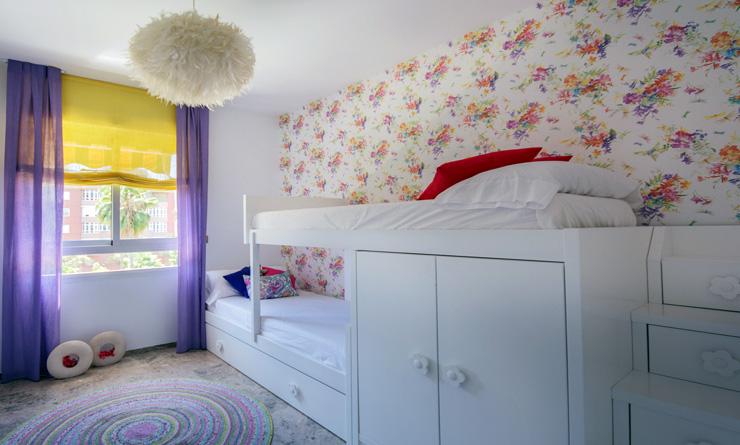 Apersonal inteiorismo y decoración Reforma dormitorio floral niñas